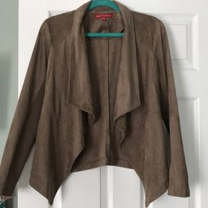 Faux suede light brown jacket